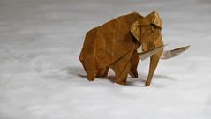 A long way home (Michał Kosmulski) Tags: winter snow animal mammal origami mammoth prehistoric tissuepaper mamut arturbiernacki unryupaper michałkosmulski
