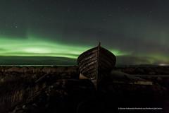 Das Boot. (Kjartan Guðmundur) Tags: nightphotography sea sky canon stars landscape boat iceland nightscape ngc nocturne ísland northernlights auroraborealis nordlys norðurljós canoneos5dmarkiii tokinaatx1628mmf28profx kjartanguðmundur