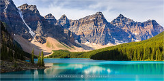Moraine lake - Banff N.P - Canada (~ Floydian ~ ) Tags: morning mountain lake canada mountains nature sunrise canon landscape photography dawn rocky alberta np banffnationalpark morainelake canadianrockies floydian canoneos1dsmarkiii henkmeijer
