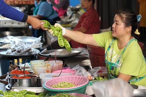 Hua Hin day markets - vege stall