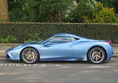 Ferrari 458 Speciale (p3cks57) Tags: blue france london de tour ferrari bleu speciale supercars 458 knightbridge worldcars
