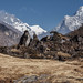 Ama Dablam view from trail to Khunde