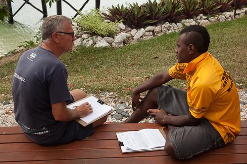 practicing interviews