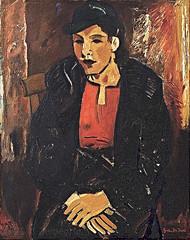La femme au manteau, 1937 // by Gustave de Smet (mike catalonian) Tags: portrait female painting 1930s 1937 gustavedesmet halflrngth
