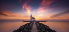 Marken - Lighthouse at sunrise (Toon E) Tags: lighthouse netherlands sunrise sony nederland vuurtoren marken noordholland 2016 northholland tonika a6000 tonikaatx116pro1116f28