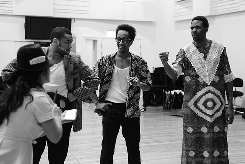 """rehearsals """"Great As I Am"""" Nordic Black Theatre"""