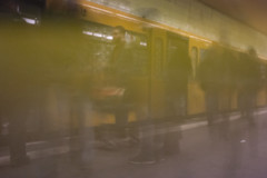 Taken with my self-made pinhole lens. Mitte, Berlin. (Ronkoteus) Tags: people berlin station train canon traffic pinhole sbahn 6d pinholelens canon6d selfmadelens