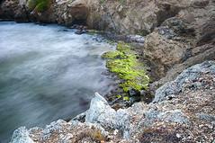 Detrs de El Manantial (Sojon) Tags: sea verde beach azul mar exposure playa filter nd margarita exposicion larga algas filtro