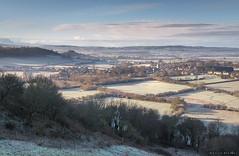 Melting (Sarah_Brooks) Tags: blue winter sky cloud mist church rural landscape frost village somerset