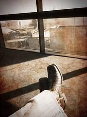 Kickin' back at DFW
