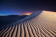 Blue Hour at White Sands (David Swindler (ActionPhotoTours.com)) Tags: alamogordo nationalmonument newmexico sanddunes stars whitesands bluehour desert lightpainting night nightscape ripples whitesand