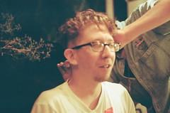 Barbershop Buzzcut (Laura-Lynn Petrick) Tags: party haircut toronto night hair buzz downtown drinking hairdo whiskey barbershop nighttime barber series buzzcut bourbon torontomusicscene shawnheaney lauralynnpetrickhaircut