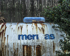 AmeriGas Tank (Willamette Valley Photography) Tags: old oregon fence outside outdoors rust tank decay fences rusty gas rusted pacificnorthwest rusting gasoline decaying tanks amerigas