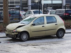 Rotterdam: Wintry Conditions (harry_nl) Tags: netherlands hail punto rotterdam fiat crashed nederland conditions wintry 2016