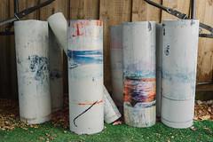 colourful cylinders (栗☆) Tags: indigo craft melbourne workshop dye dyeing shibori sonya7 絞り染め sel35f28z