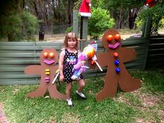 Teresa and the gingerbread men (yewenyi) Tags: christmas display australia victoria teresa macclesfield gingerbreadmen