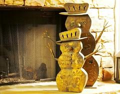 Hands up (warrenrlucas) Tags: metal candle snowmen hearth holders