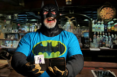 The Day the Caped Crusader woke up in the back barroom of the Olde Absinthe House (Studio d'Xavier) Tags: wallet w batman joker 365 barroom whatsinyourwallet alphabetty werehere absinthehouse 54366 wisforwallet february232016