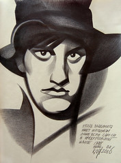 () Tags: portrait hat graphic drawing graphite mayakovsky