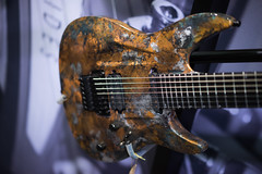 Aristides 070 Fallout (paul_ouzounov) Tags: musician music shop guitar bare knuckle guitars jackson custom esp prs namm kiesel 2016 carvin strandberg aristides zeiss55mm sonya7 namm2016