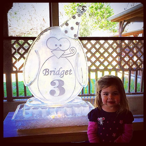 Happy #birthday Boogie!! I love you so much! #fullspectrumice #thinkoutsidetheblocks #brrriliant - Full Spectrum Ice Sculpture