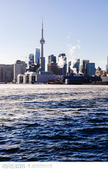 View on Toronto from Polson Pier (Vincent Demers - vincentphoto.com) Tags: ca city winter lake toronto ontario canada cold ice water skyline buildings frost cityscape cntower waterfront frosty northamerica chilly icy lakeontario torontoskyline polsonpier