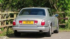 Reading, Berkshire - UK (Mic V.) Tags: uk red england car sedan private reading britain label united great kingdom plate 1999 voiture gb british berkshire saloon reg luxury v8 bentley arnage 55tp