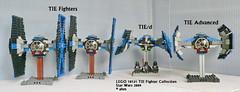 Star Wars LEGO 10131 TIE Fighter Collection (KatanaZ) Tags: starwars lego tied darthvader tiefighter minifigures tiefighterpilot tieadvanced lego10131 tiefightercollection