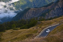 close to nature (absblacky) Tags: road trip wild cloud mountain green nature car landscape drive nikon taiwan vehicle d700