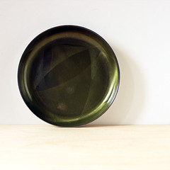Cathedral. (Kultur*) Tags: green norway cathedral olive housewares 1950s tray coaster serving kittelsen midcenturymodern enamel scandinaviandesign catherineholm