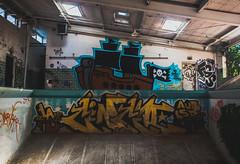 Ahoy MF! (BillyBPhotos) Tags: city atlanta art abandoned pool ferry graffiti nikon paint tag cityscapes center trespass bomb stroll bakers detention sneaktip streetprowlers