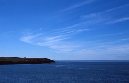 View of the Irish Sea from Porth Trecastell