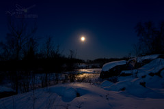 Snow Moon at Pinawa Dam, MB (KYLI01) Tags: moon canada night parkscanada moonnight provincialparks