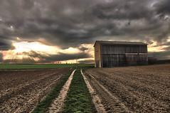 Romantika (Peter Daum 69) Tags: light sunset color nature clouds canon way landscape licht scenery sonnenuntergang natur wolken farbe moods weite bunt pfalz stimmung weg romantik 6d endlos