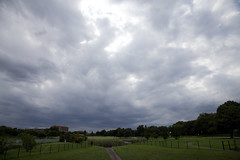 A SMALL AIRPORT, SOME PARKS AND CLOUDS - XXII (Jussi Salmiakkinen (JUNJI SUDA)) Tags: park wood summer sky cloud japan airplane landscape tokyo airport cityscape aircraft     chofu