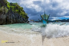 The Arrival (Kostas Trovas) Tags: travel sea sky beach nature weather clouds canon outdoors island coast aqua asia action earth philippines wave fisheye vacations hdr survivor caramoan 6d bangka lr6 500px instagram kostasimages sigma15mmflickr