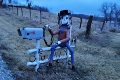 Mailbox man (iluvweknds) Tags: county rural folkart missouri mendota yardart livonia unionville putnamcounty
