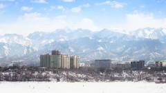 new year's morning (starts at 2 PM) (monorail_kz) Tags: winter snow skyline landscape january newyear kazakhstan almaty helios442 alatau sairan