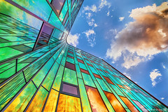 Sunset 2.0 (Bram de Jong) Tags: windows sunset sky building glass architecture nikon colours ngc sigma hdr deventer larcenciel freeniksoftware