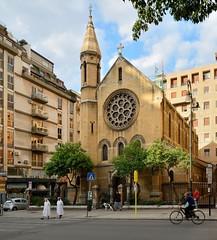 Palermo : Chiesa anglicana - Via Roma (Pantchoa) Tags: palerme italie église chiesaanglicana viaroma architecture cycliste religieuses nikon d7100 croix chrétiens protestants catholiques pantchoa françoisdenodrest