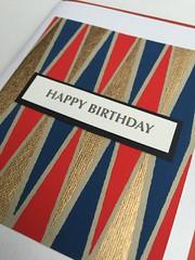 Letterpress backgammon birthday card (artnoose) Tags: birthday blue red diamonds happy gold board diamond note card letterpress greeting zigzag backgammon