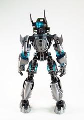 Toa Niretta - Back (0nuku) Tags: silver lego da deviant oc deviantart bionicle toa kakama selfmoc niretta