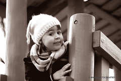 Little girl b/w (Photocreatief.de) Tags: white black girl smile photoshop fun fotograf fotografie joy kind kindergarten mdchen spielplatz        spielkind schwarzweis kreative 500px