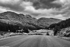 Glen Croe - Ben Donich (AdamMatheson) Tags: blackandwhite bw mountain mountains monochrome canon landscape mono scotland blackwhite nationalpark scenery scottish scene 7d restandbethankful lochlomondnationalpark a83 scottishlandscape argyllbute glencroe canonef24105mmf4lisusm canon24105l scottishmountain canonef24105f4lisusm canoneos7d canon7d canoneos24105f4lisusm adammatheson adammathesonphotography