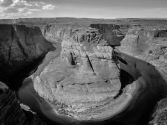 Horseshoe Bend (realitygui) Tags: arizona blackandwhite bw usa river landscape horseshoebend