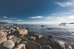 Merta 016 (miikajom) Tags: light sea sun suomi finland spring helsinki rocks shore meri lauttasaari ranta 2016 kevt laru laaja