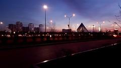 If someone wishes you good night every day, you are happier than so many people. #astana #kazakhstan #night #lights #pyramid #goodnight (malikasenova) Tags: night lights pyramid goodnight kazakhstan astana