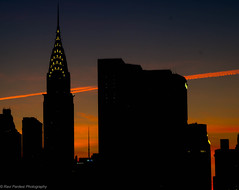 Chrysler Building, NYC (ravi_pardesi) Tags: nyc light sunset usa sun sunlight newyork silhouette skyline architecture contrast gold evening outdoor serene chryslerbuilding awesomeness