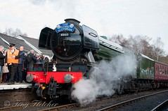'THE FLYING SCOTSMAN' - 9.30AM DEPARTURE - GROSMONT TO PICKERING - 20th MARCH 2016 (tonyfletcher) Tags: a3 flyingscotsman steamlocomotive grosmont nymr northyorkshiremoorsrailway 4472 theflyingscotsman 60103 tonyfletcher