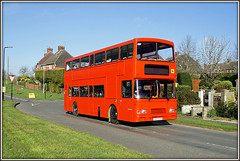 Hunter`s fleet - Complete! (Jason 87030) Tags: road blue school red sky color colour bus kids children village northamptonshire april alexander alpha northants stagecoach doubledecker hunters 2016 ilce williamparker s312ccd sonya6000